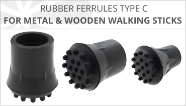 C TYPE RUBBER FERRULES FOR WALKING STICKS
